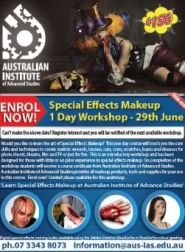 Community Announcement - Special Effects Makeup Workshop