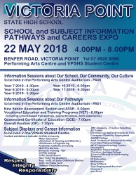 Annual Subject Information, Enrolment & Career Pathways Expo - 22 May 2018